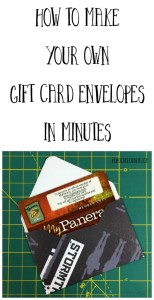 How to Make Your Own Gift Card Envelopes