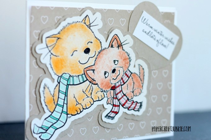 Cozy Kittens - The From the Heart Stamps January Challenge