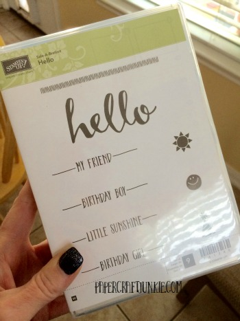 January Giveaway - Stampin Up Hello